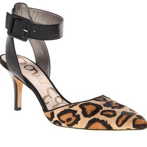 Sam Edelman Okala Ankle Strap Leopard Pumps